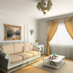 modern classic interior design (private apartment 3d rendering)