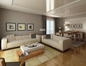 interior design of a modern living room